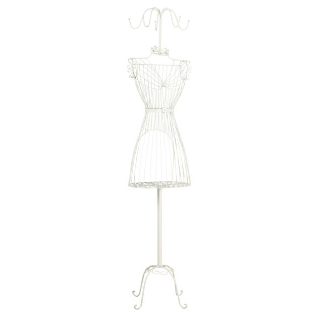 AUBRY GASPARD Mannequin en métal laqué blanc