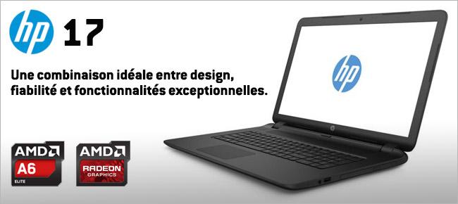 achat hp 17 p128nf noir ordinateur portable 17 3. Black Bedroom Furniture Sets. Home Design Ideas