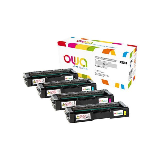 Toner Armor Owa compatible Ricoh 407719 jaune pour imprimante laser