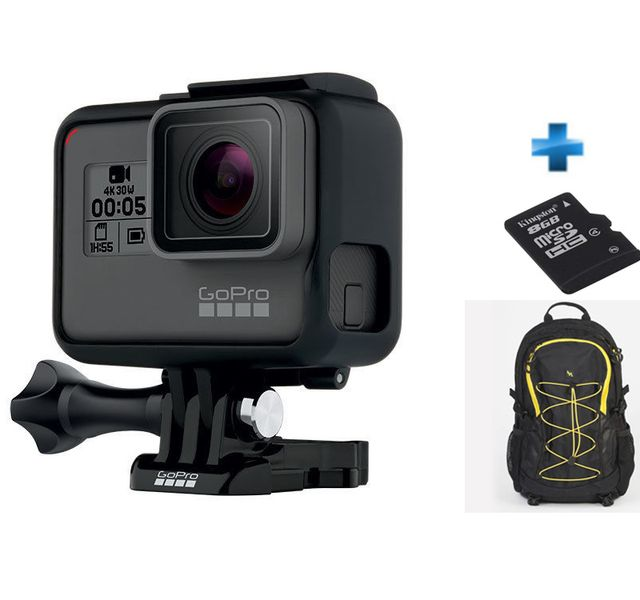 GOPRO - Pack Expert Hero 5 Black Edition + Carte SD 8Go + Sac