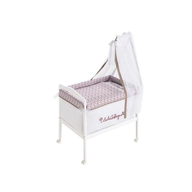 lulu castagnette berceau complet carr bois textile. Black Bedroom Furniture Sets. Home Design Ideas