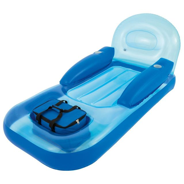 Best Way Matelas gonflable plage piscine Bestway Collerz lazy cooler loung Bleu 82468
