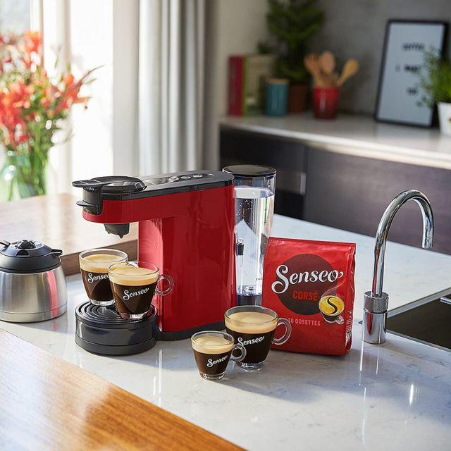 Philips Machine à café Senseo 2 en 1 de 1L 1450W rouge noir