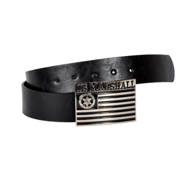 52156abd167 U.S Marshall - Ceinture Us Marshall Us Flag Noir - pas cher Achat ...