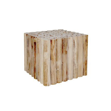 Table basse 50x50x40cm en teck naturel - Alpaga