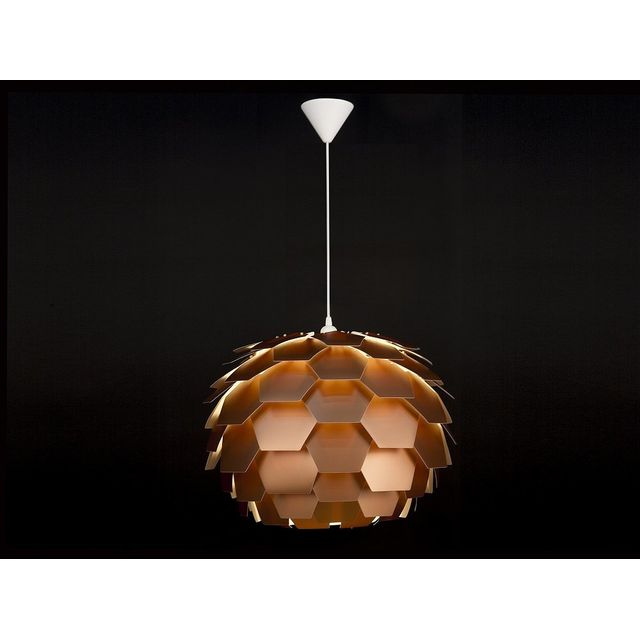 Beliani - Lampe de plafond - suspension - plafonnier - luminaire cuivre - Segre Maxi