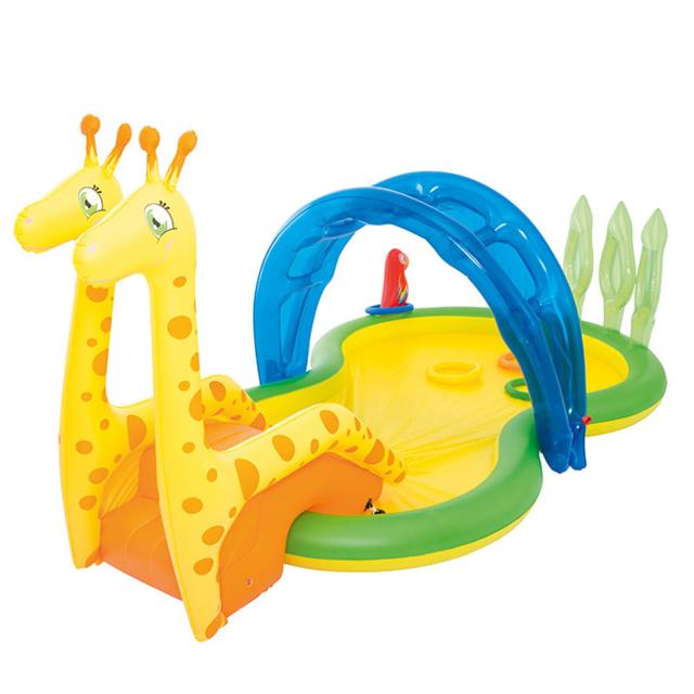 bestway petite piscine toboggan girafe et aire de jeux d. Black Bedroom Furniture Sets. Home Design Ideas