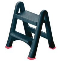Curver - 155160 - Tabouret Pliable 2 Marches Anthracite
