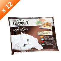 Gourmet - A la Carte Recette du Chef au poulet pour chat 4 x 85g -12