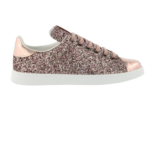 Chaussures Deportivo Basket Glitter Rosa