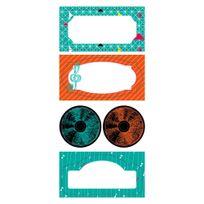 Clairefontaine - 2 planches d étiquettes cadeaux adhésives - Music