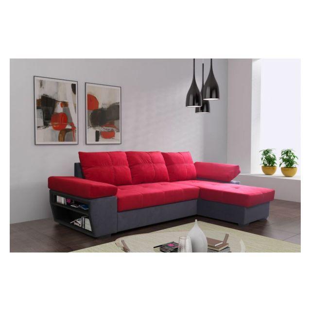Générique Canapé d'angle réversible et convertible Tivoli rouge