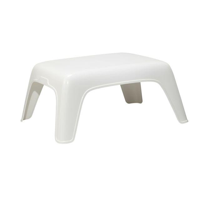 HYBA - Table basse de jardin - Blanc - pas cher Achat / Vente Tables ...