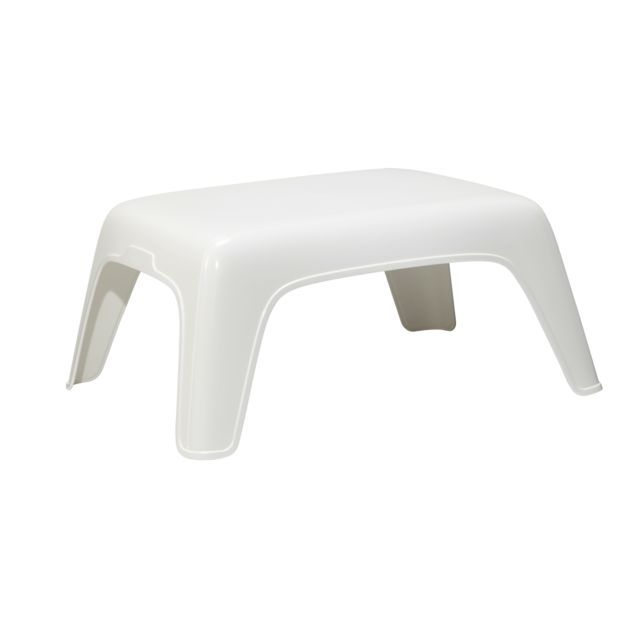 hyba table basse de jardin blanc pas cher achat. Black Bedroom Furniture Sets. Home Design Ideas