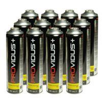 Providus - Pack de 12 cartouche gaz 330g butane propane mix - bouteille de gaz à valve 600 ml - bonbonne pour désherbeur thermique à vis