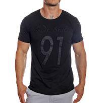 Tazzio - T-shirt Ride Style col rond manches courtes noir