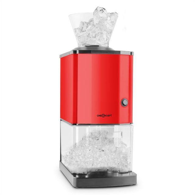 ONECONCEPT Icebreaker Broyeur de glace 15 kg/h 3,5 l récipient rouge