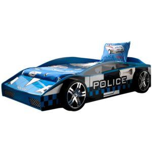 paris prix lit enfant voiture police bleu pas cher achat vente lit enfant rueducommerce. Black Bedroom Furniture Sets. Home Design Ideas