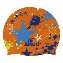 Jaked - Bonnet en silicone Junior Party orange bleu enfant