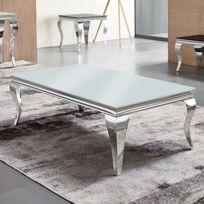 Baroque Ema Basse Table Blanc 3c54RAjLq