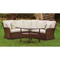Hevea Jardin - Ensemble table et chaises de jardin campinas 7 - 6 places