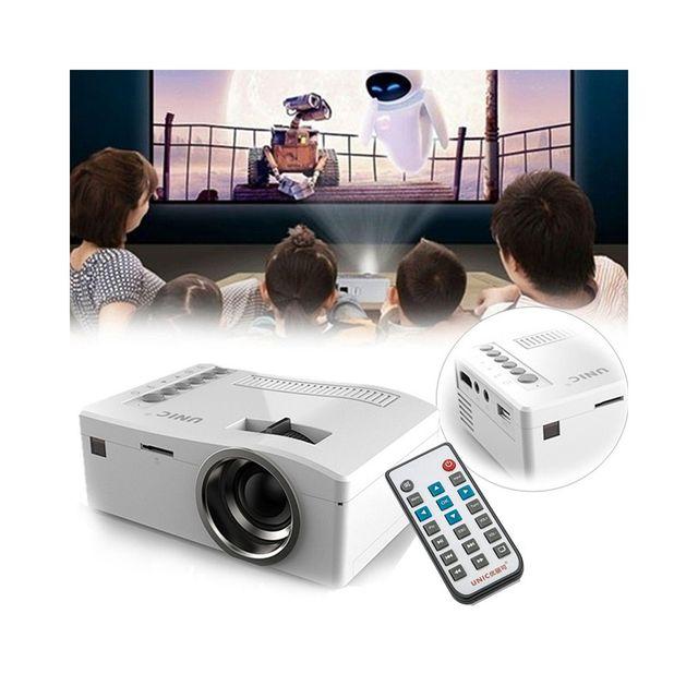 Auto-hightech Mini Projecteur Lcd - 320 x 180, 48 Lumens, Télécommande