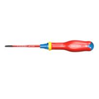 Tournevis Protwist® Borneo® isolé 1000 volts pour vis cruciformes Pozidriv® Slim PZ1x100 ATDB1X100TVE