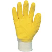 Paire de gants nitrile 3/4 Enduction ultra-légère. Support coton cousu. Poignet tricot. Singer Nbr1126J. Taille 10