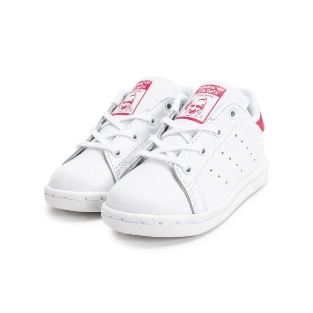 info for f8047 7e817 Adidas - Stan Smith Bébé Blanche Et Rose