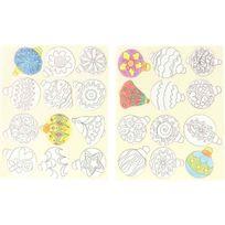 maxi gommette boules de noël à colorier - pochette de 144