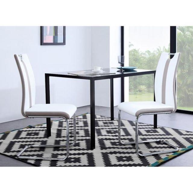 GÉNÉRIQUE - Chaise Jade Lot de 2 chaises de salle a manger - Simili ...