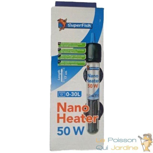 Le Poisson Qui Jardine Chauffage thermostat 50W pour nanos : Superfish nano heater