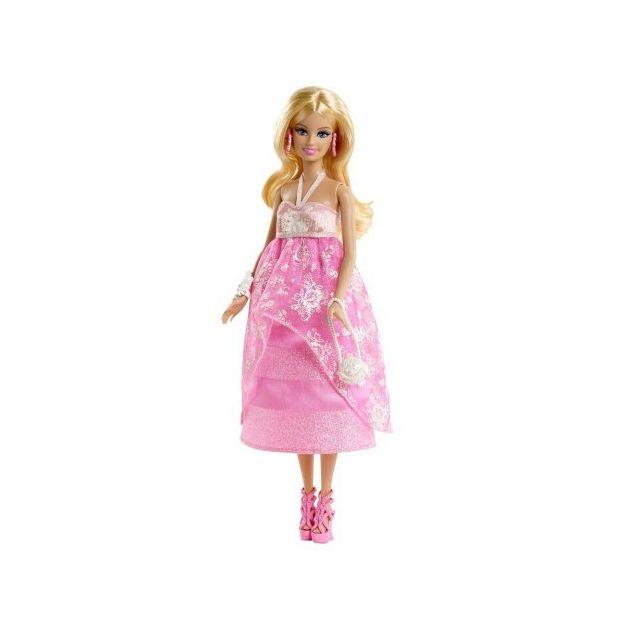 Barbie - Poupée Fashion Robe de soirée rose - pas cher Achat   Vente ... 9f55e08f7e51