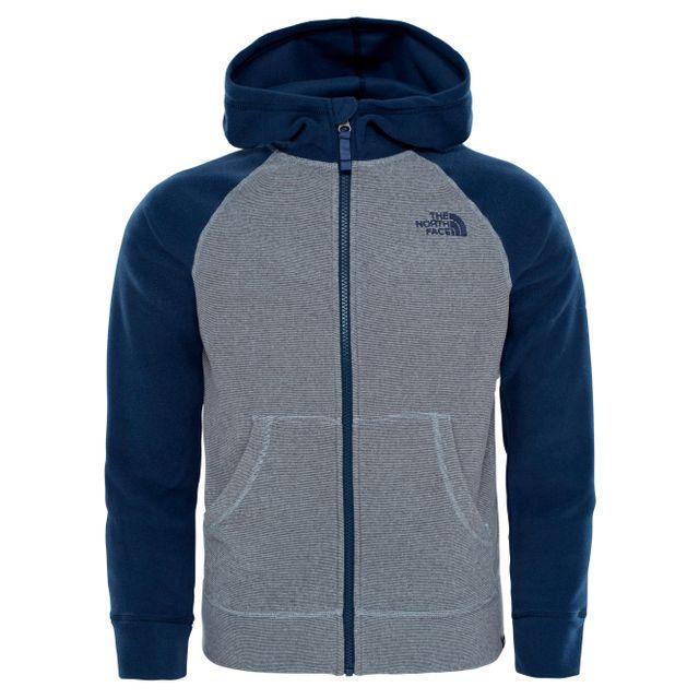 425cc35801 The north face - Glacier - Sweat-shirt - gris/bleu Multicolour - pas cher  Achat / Vente Gilets, polaires - RueDuCommerce