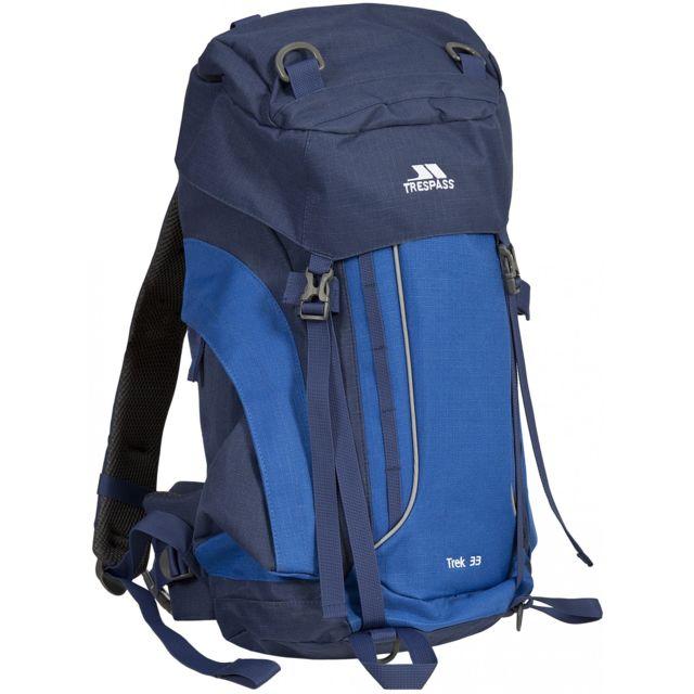Trespass Trek 33 - Sac à dos de randonnée 33 litres, Taille unique, Bleu électrique Uttp363