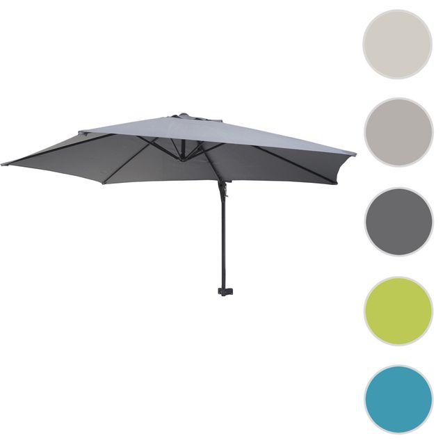 mendler parasol mural casoria parasol d port pour le balcon 3m inclinable gris pas. Black Bedroom Furniture Sets. Home Design Ideas