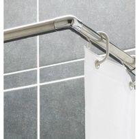 Presto - Tringle d'angle pour rideau de douche - extensibilité 120 x 200 cm ajustable - pour receveur
