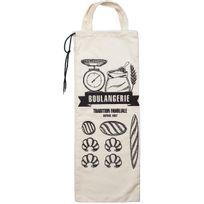 Promobo - Sac A Pain Bistrot Rangement Rétro Pour Cuisine Boulangerie Blanc