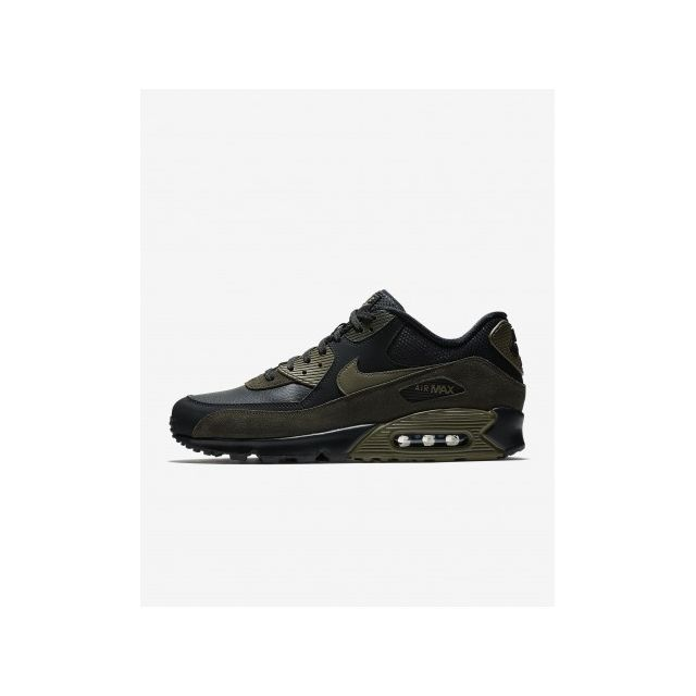 new style 155e8 005c1 Nike - Air Max 90 Leather - 302519-014 - Age - Adulte, Couleur - Noir,  Genre - Homme, Taille - 40,5 40 1 2 - 40 1 2 - pas cher Achat   Vente  Chaussures ...