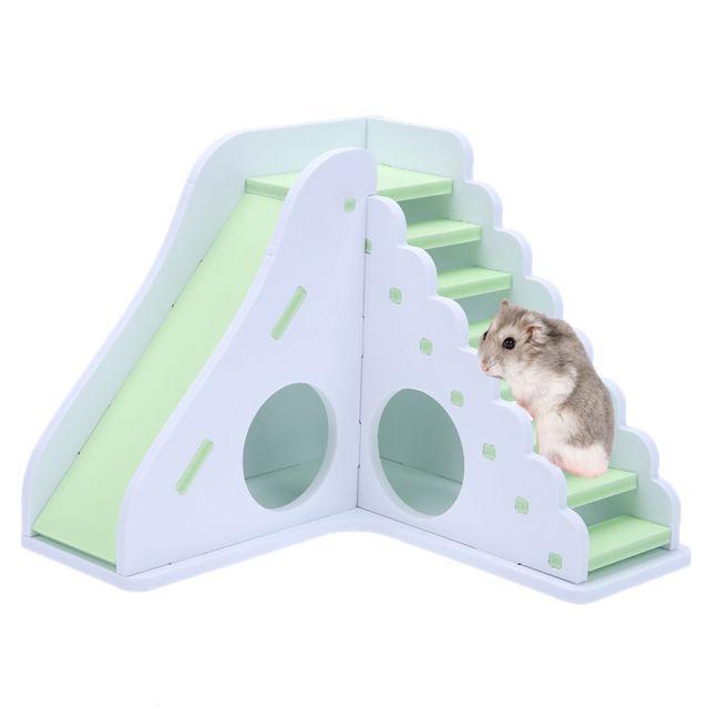 Generic Rongeur Jouët Jeu Maison Couleur Divertissement Hamster En Bois Jouet Sport Échelle Vert