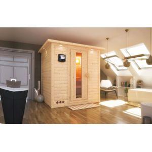 karibu sauna bois 40mm d 39 int rieur mojave 2 3 places avec po le 9kw commande int gr e pas. Black Bedroom Furniture Sets. Home Design Ideas