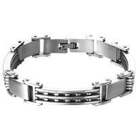 Bijoux&M - Bracelet en acier inoxydable brosse 215mm