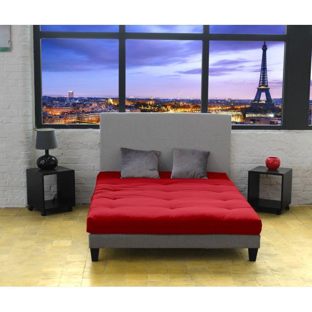 lovea matelas futon latex rouge 140x190 achat vente matelas latex pas chers rueducommerce. Black Bedroom Furniture Sets. Home Design Ideas