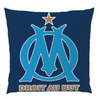 No Name - Coussin Imprimé Om Logo Bleu 36 x 36 cm