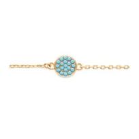 Collection Zanzybar - Bracelet charme en plaqué or et turquoises Collection Amalfi