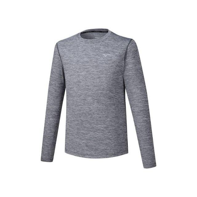 Mizuno T shirt à manches longues Impulse Core Tee gris