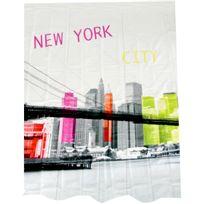 Promobo - Rideau De Douche En Polyester Déco New York City Building Pop Art
