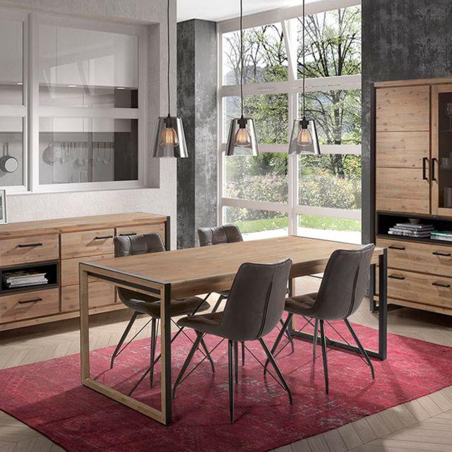 Nouvomeuble Table 190 cm en acacia contemporaine Zacharia