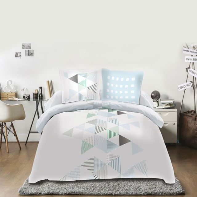 sans marque housse de couette 220 x 240 cm taies stockholm multicolor 240cm x 220cm. Black Bedroom Furniture Sets. Home Design Ideas