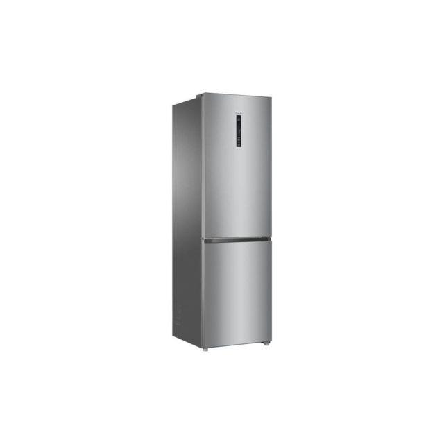 HAIER HRF-635CSHJ - refrigerateur combi no frost froid ventile - 340L - A+ - L 60 cm - silver